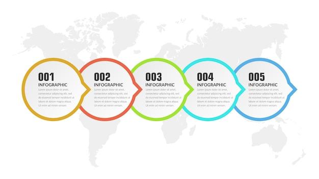 Five point infographic element strategia biznesowa