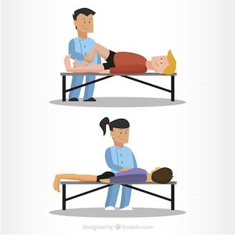 Fizjoterapeuta ilustracje