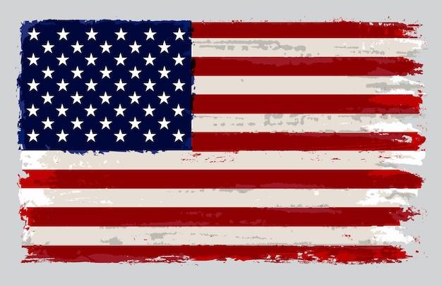 Flaga amerykańska grunge