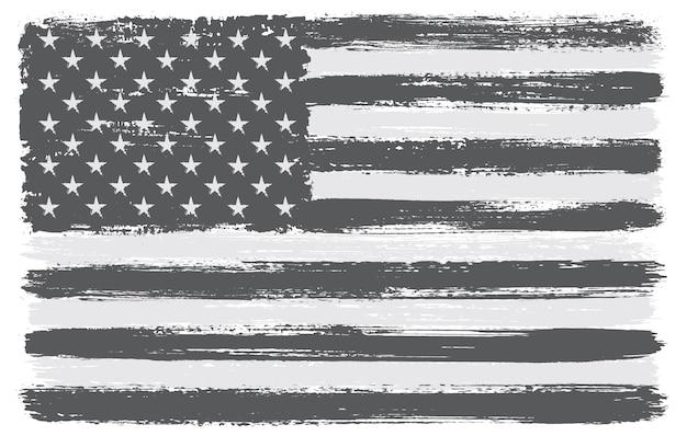 Flaga amerykańska obrysu pędzla