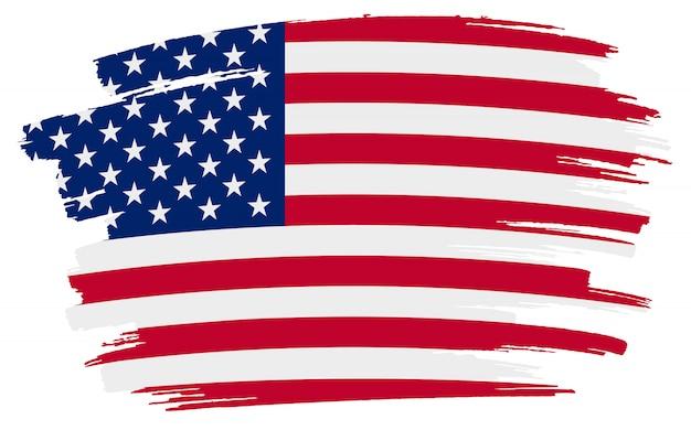 Flaga amerykańska pociągnięcia pędzla