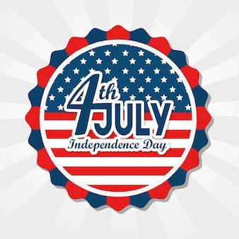 Flaga amerykańska z 4 lipca znak
