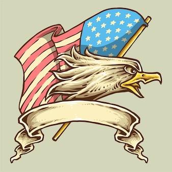 Flaga amerykańskiego orła