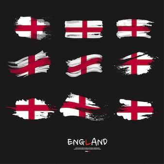 Flaga anglii pociągnięciem pędzla.