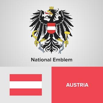 Flaga austrii i godło państwowe