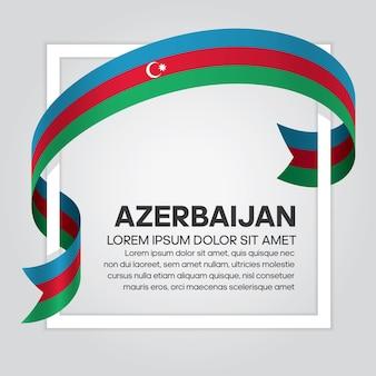 Flaga azerbejdżanu wstążką, ilustracja wektorowa na białym tle