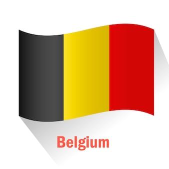 Flaga belgii w tle