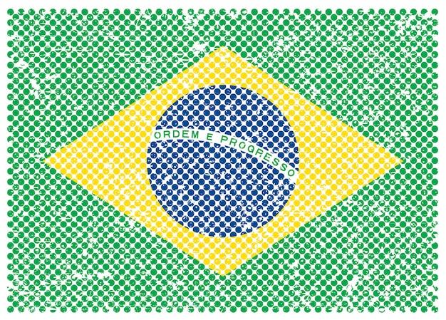 Flaga brazylii grunge