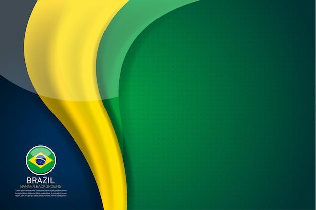 Flaga brazylii koncepcja tła dla niepodległości
