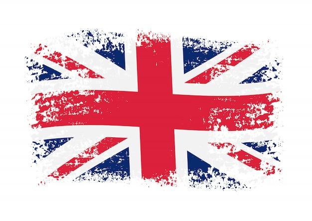 Flaga brytyjska grunge