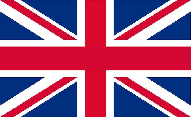 Flaga brytyjska - oryginalne kolory i proporcje. ilustracja wektorowa eps 10
