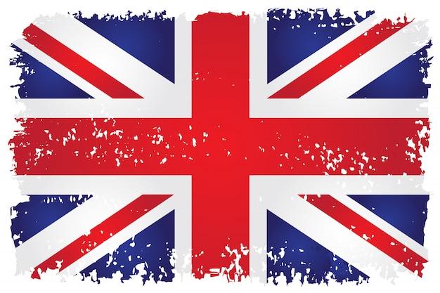 Flaga brytyjska w stylu grunge