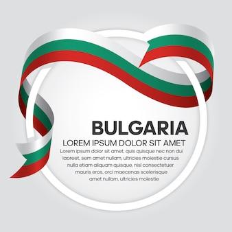Flaga bułgarii wstążka, ilustracji wektorowych na białym tle