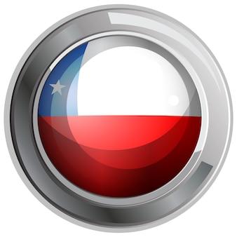 Flaga chile na okrągłej ikonie
