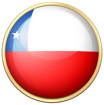 Flaga chile na okrągłej ramie