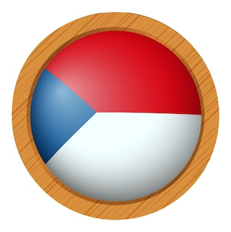 Flaga chile na okrągły przycisk