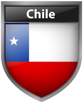 Flaga chile na znaczku