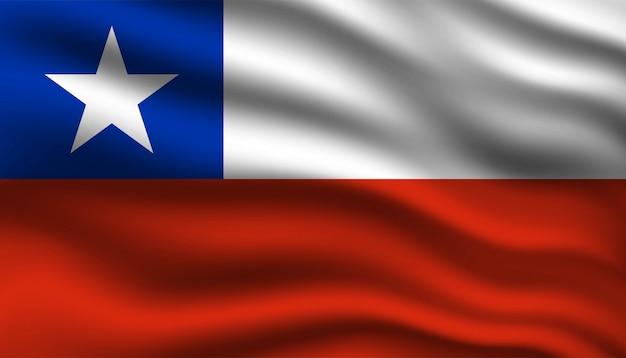 Flaga chile w tle.
