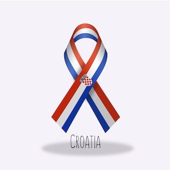 Flaga chorwacji projekt wstążki