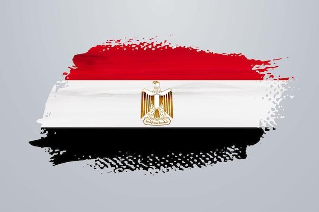 Flaga egiptu pędzlem