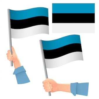 Flaga estonii w zestawie ręcznym
