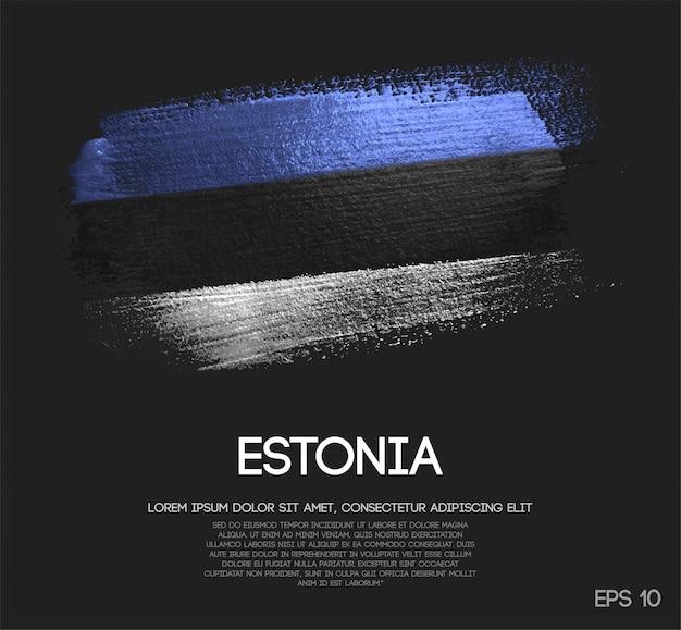 Flaga estonii wykonane z farby pędzla blitter brush