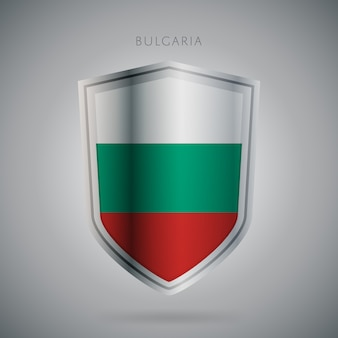 Flaga europy serii ikona bułgarii