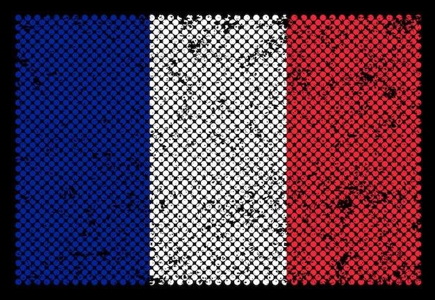 Flaga francji grunge