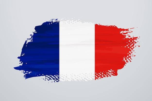 Flaga francji pędzlem farby