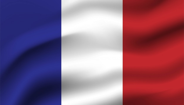 Flaga francji w tle.