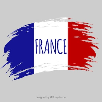 Flaga francji w tle