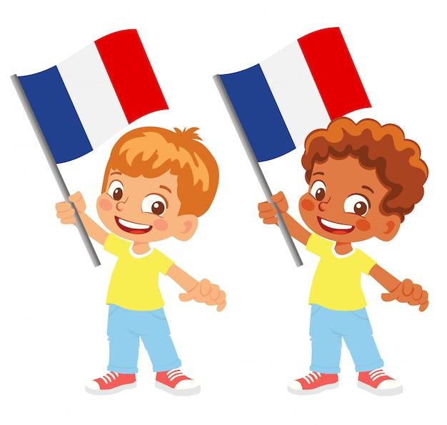 Flaga francji w zestawie ręki