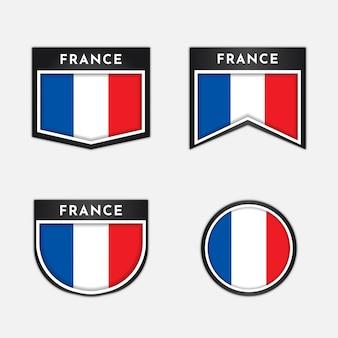 Flaga francji z odznaką godła