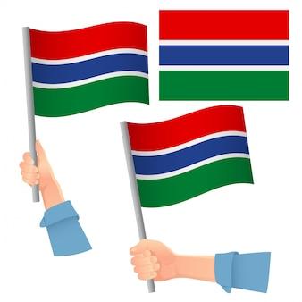 Flaga gambii w zestawie ręcznym