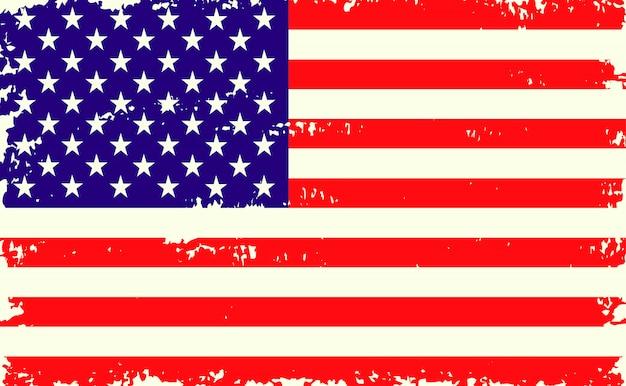 Flaga grunge usa