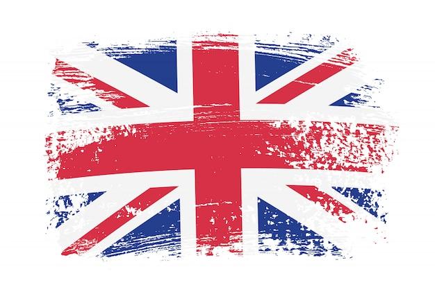 Flaga grunge wielkiej brytanii