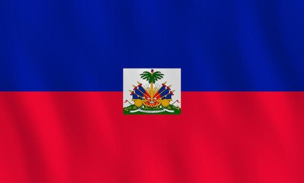 Flaga haiti z efektem falowania, oficjalne proporcje.