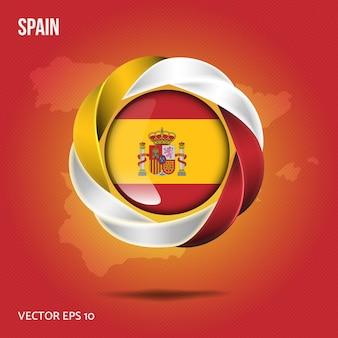 Flaga hiszpanii przypinka