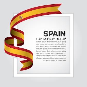 Flaga hiszpanii wstążka, ilustracji wektorowych na białym tle