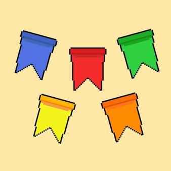 Flaga imprezowa w stylu pixel art