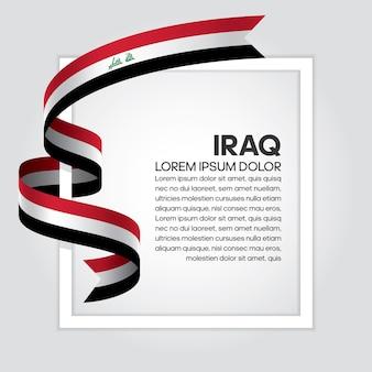 Flaga iraku wstążką, ilustracji wektorowych na białym tle