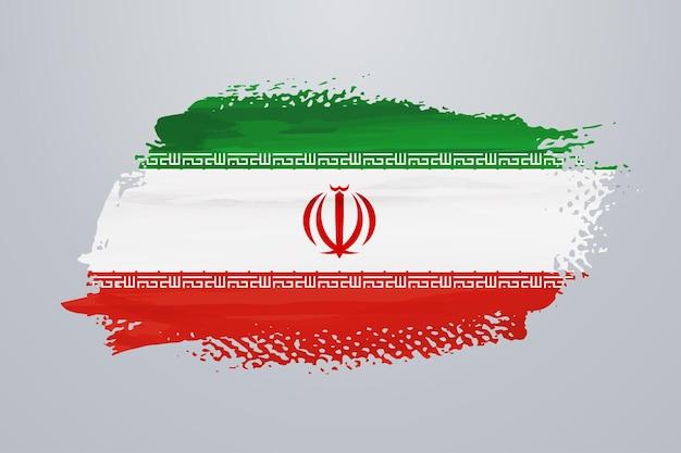 Flaga iranu pędzlem
