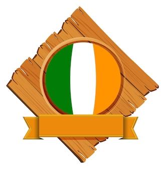 Flaga irlandii na desce