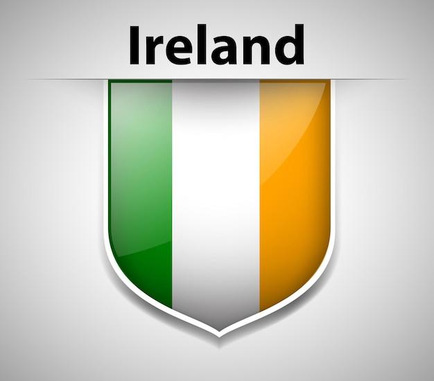 Flaga irlandii na odznace