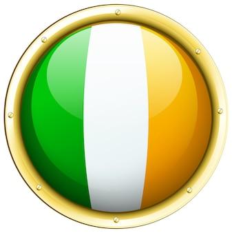 Flaga irlandii na okrągłej ikonie