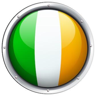 Flaga irlandii na okrągłej odznace