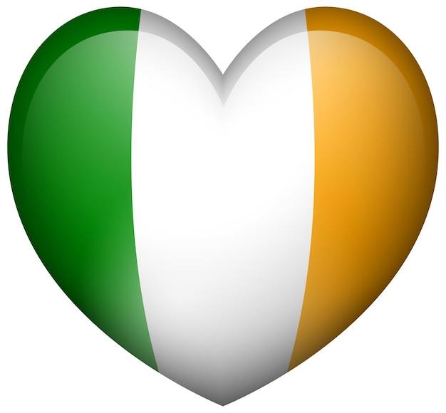 Flaga irlandii w kształcie serca