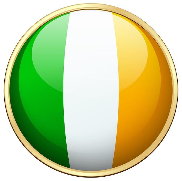 Flaga irlandii w okrągłej ikonie