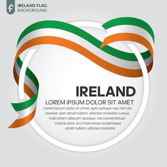 Flaga irlandii wstążką wektor ilustracja na białym tle