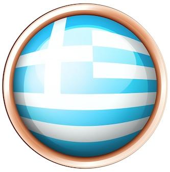 Flaga izraela w okrągłej ramce